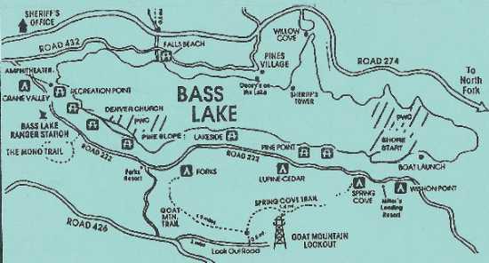bass lake california map Boatinfo bass lake california map